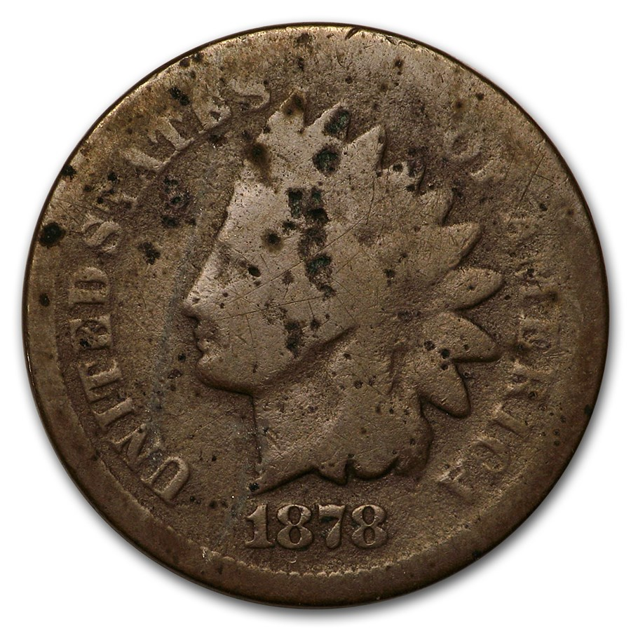 1878 Indian Head Cent Good (Cleaned, Corroded or Damaged)