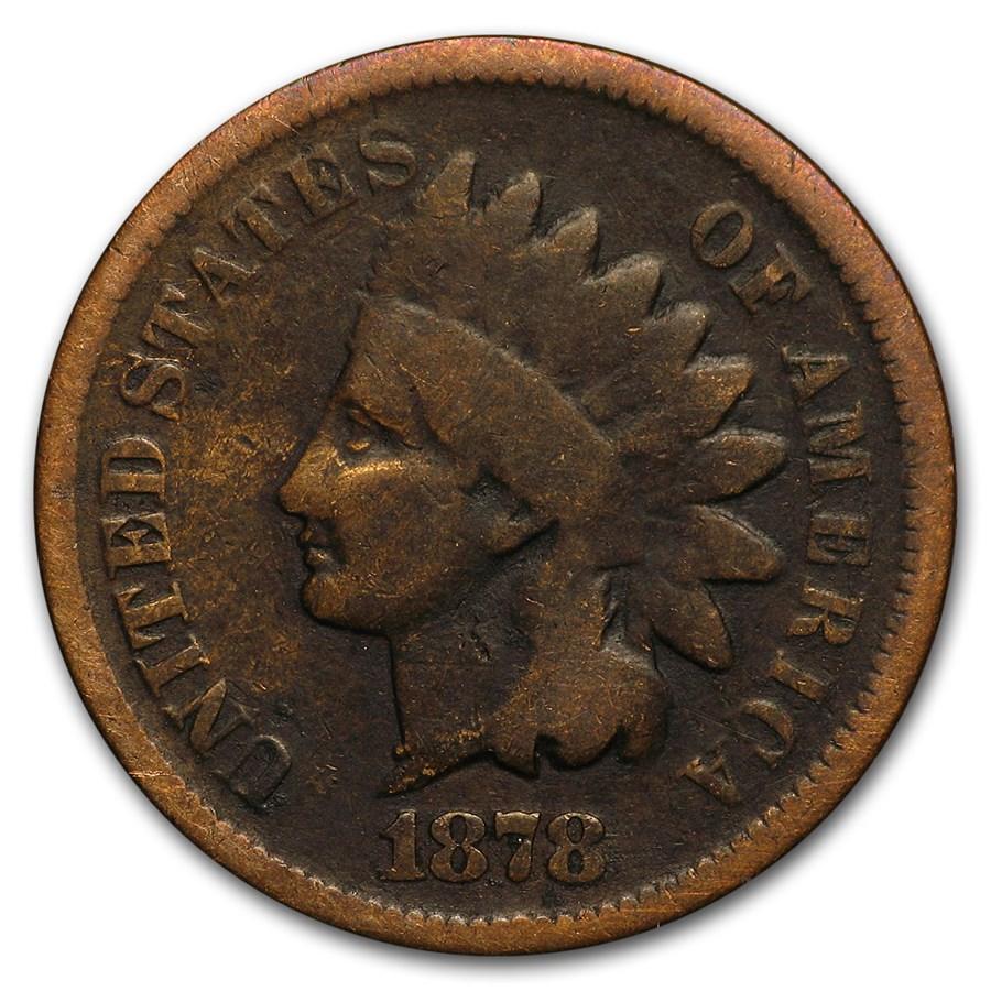 1878 Indian Head Cent Good