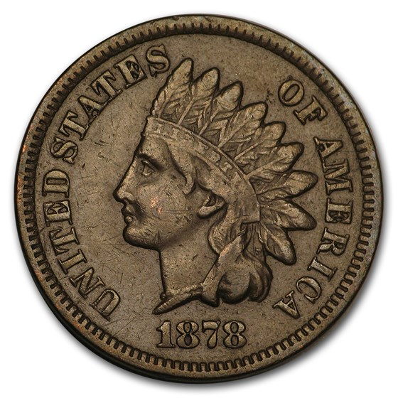 1878 Indian Head Cent XF