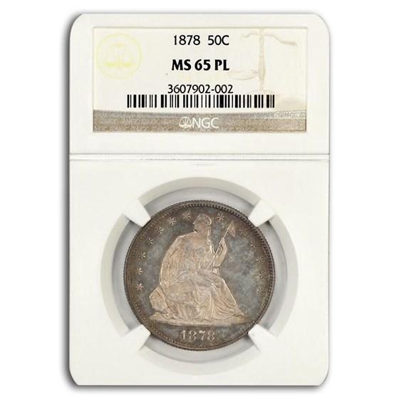 1878 Liberty Seated Half Dollar MS-65 NGC (PL)