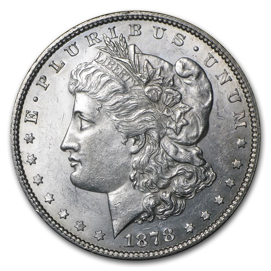 1878 Morgan Dollar 7/8 Tailfeathers AU