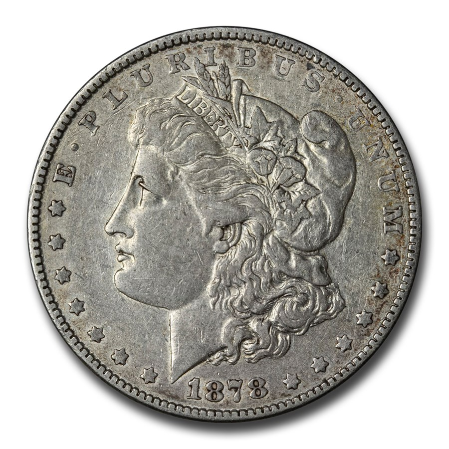 1878 Morgan Dollar 7/8 Tailfeathers VG/VF