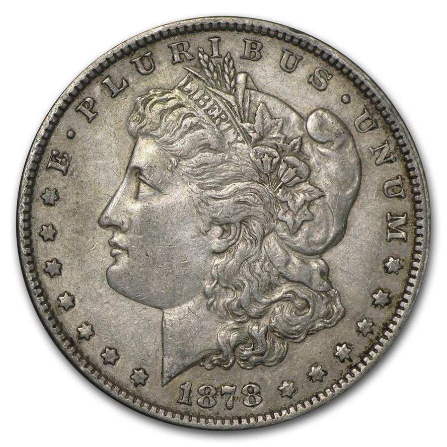 1878 Morgan Dollar 7/8 Tailfeathers XF