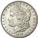 1878 Morgan Dollar 7 Tailfeathers Rev of 78 AU Details (Cleaned)