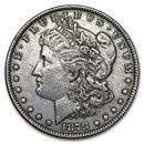 1878 Morgan Dollar 7 Tailfeathers Rev of 78 XF Details (Cleaned)