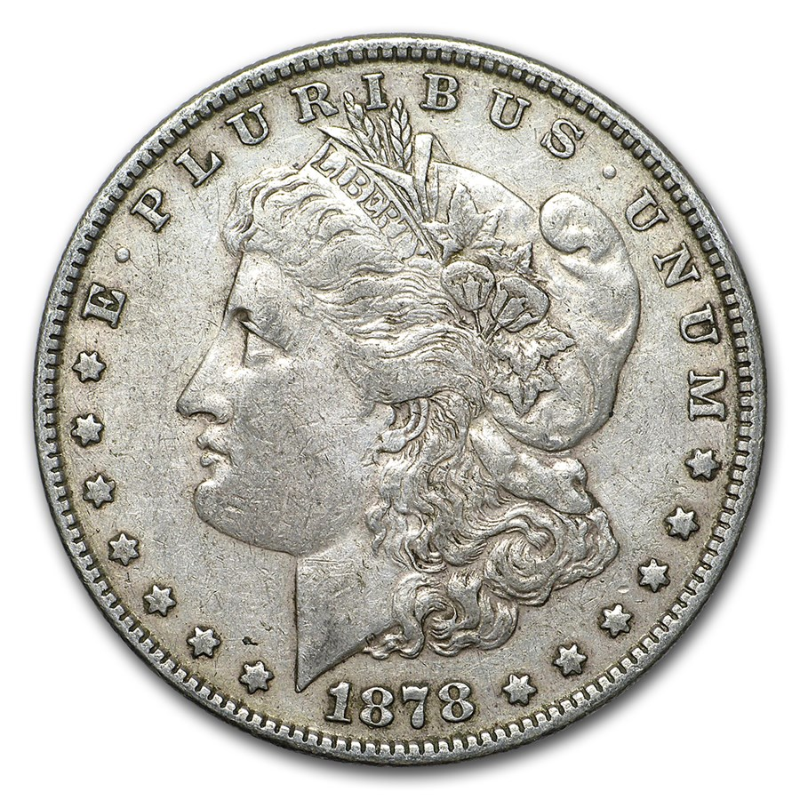 1878 Morgan Dollar 7 Tailfeathers Rev of 78 XF
