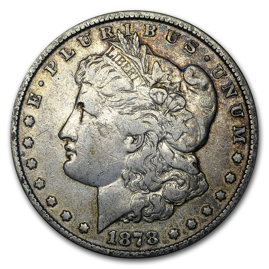 1878 Morgan Dollar 7 Tailfeathers Rev of 79 VG/VF