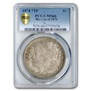 1878 Morgan Dollar 7 TF Rev of 1879 MS-66 PCGS