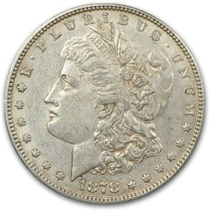 1878 Morgan Dollar 7 TF Rev of 78 AU-50 (VAM-170, Hot-50)