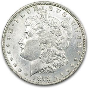 1878 Morgan Dollar 7 TF Rev of 78 AU-58 (VAM-187, Hot-50)