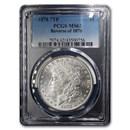1878 Morgan Dollar 7 TF Rev of 78 MS-62 PCGS