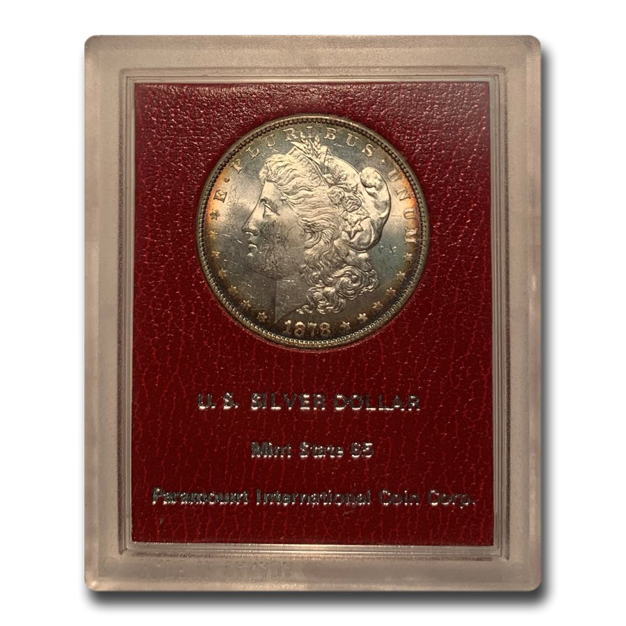 1878 Morgan Dollar 8 Tailfeather MS-65 (Paramount)