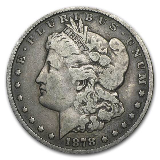 1878 Morgan Dollar 8 Tailfeathers Fine