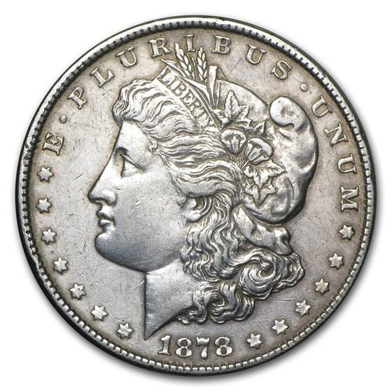 1878 Morgan Dollar 8 Tailfeathers VF