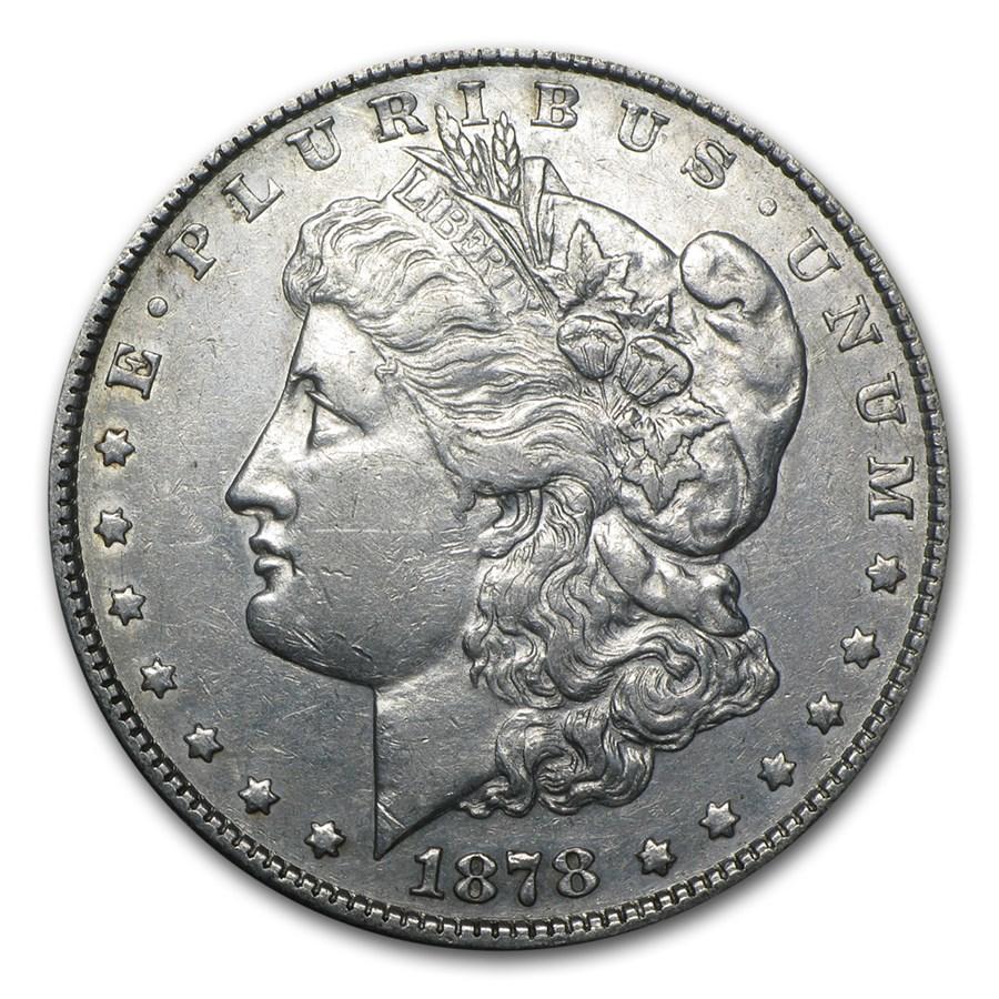 1878 Morgan Dollar 8 Tailfeathers XF