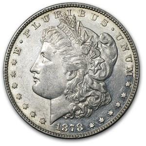 1878 Morgan Dollar 8 TF AU-55 (VAM-23, Doubled Lips, Top-100)