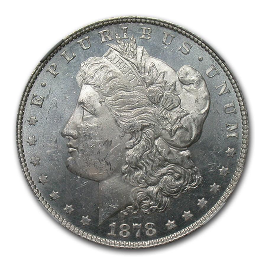 1878 Morgan Dollar 8 TF MS-62 PL NGC