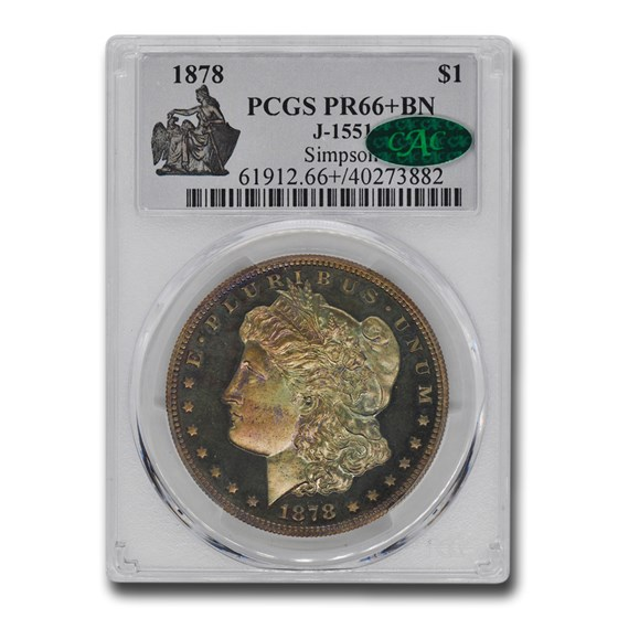 1878 Morgan Dollar Pattern PR-66+ PCGS CAC (Brown, J-1551)