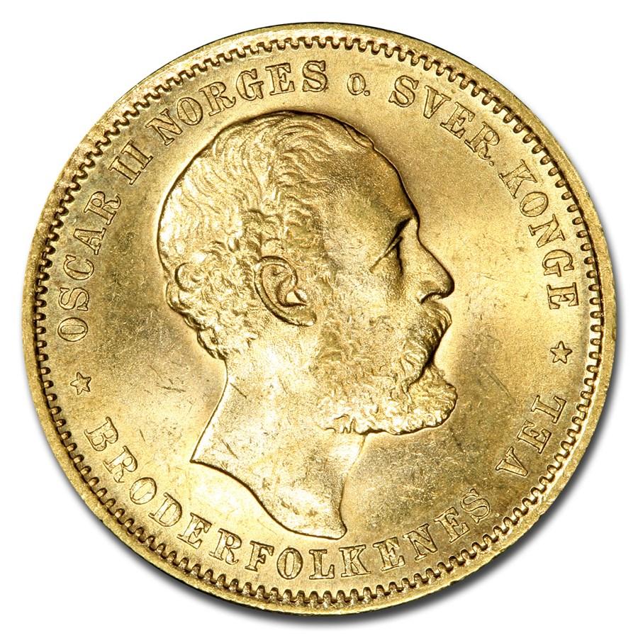 1878 Norway Gold 20 Kroner MS-65 PCGS