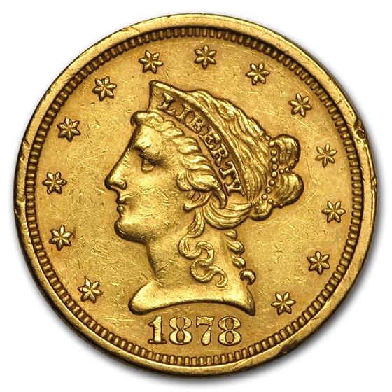 1878-S $2.50 Liberty Gold Quarter Eagle AU