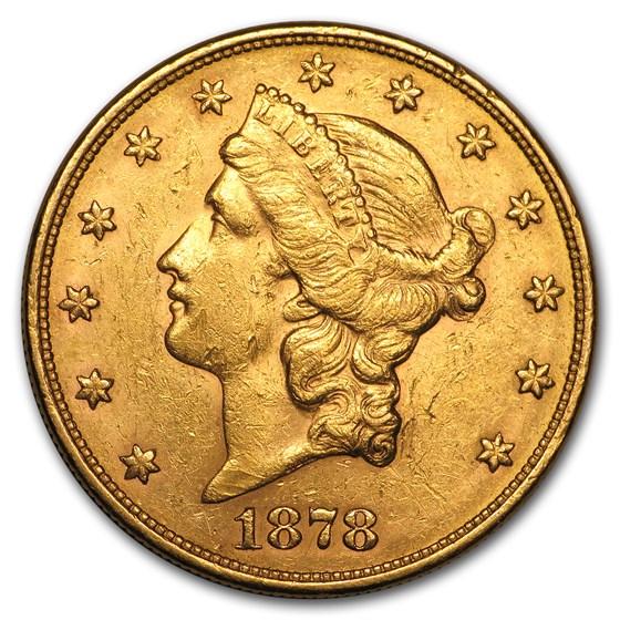 1878-S $20 Liberty Gold Double Eagle AU