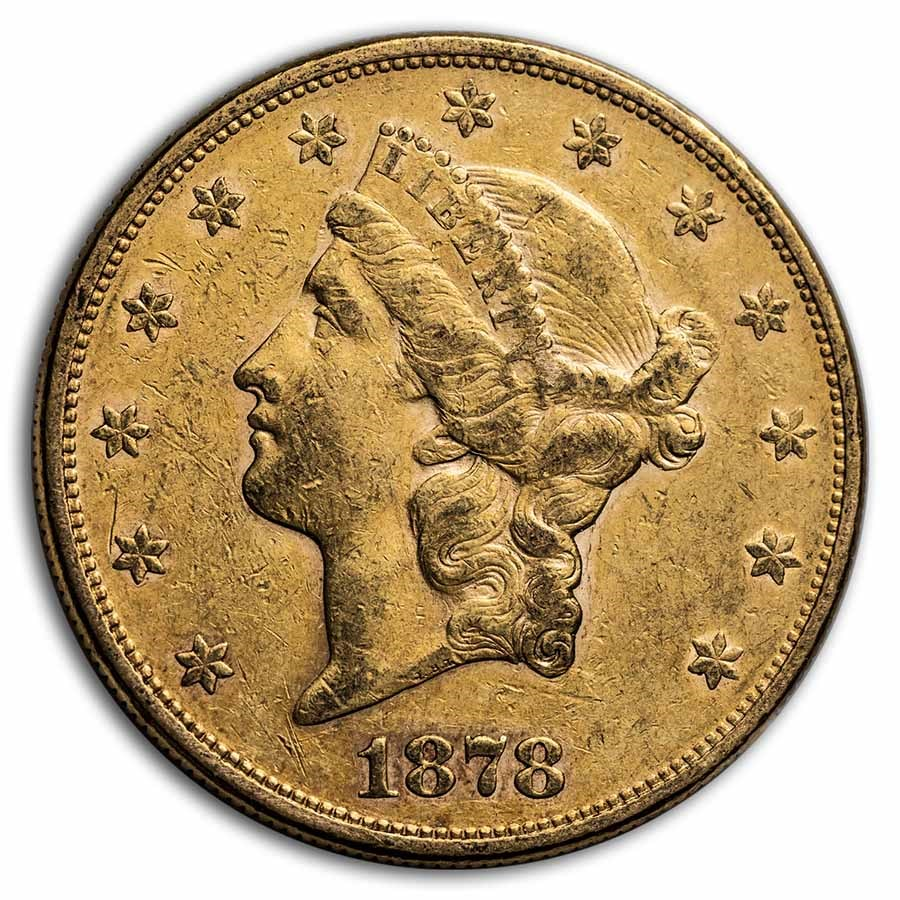 1878-S $20 Liberty Gold Double Eagle XF