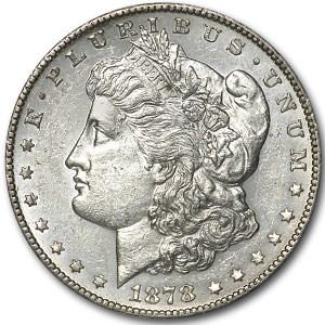1878-S Morgan Dollar AU-55 (VAM-50, Tripled Eyelid-Lava Wing)