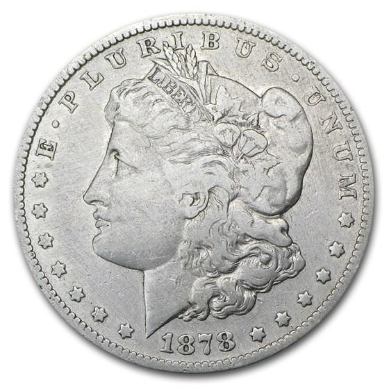 1878-S Morgan Dollar Fine (VAM-27, Long Nock, Cleaned, Top-100)