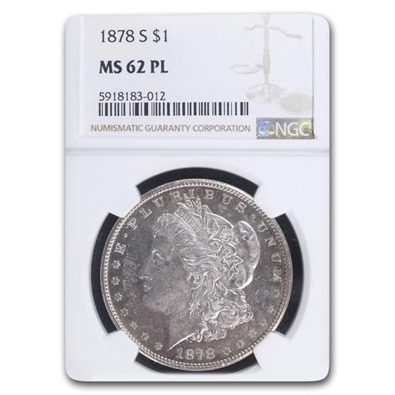 1878-S Morgan Dollar MS-62 PL Proof Like NGC