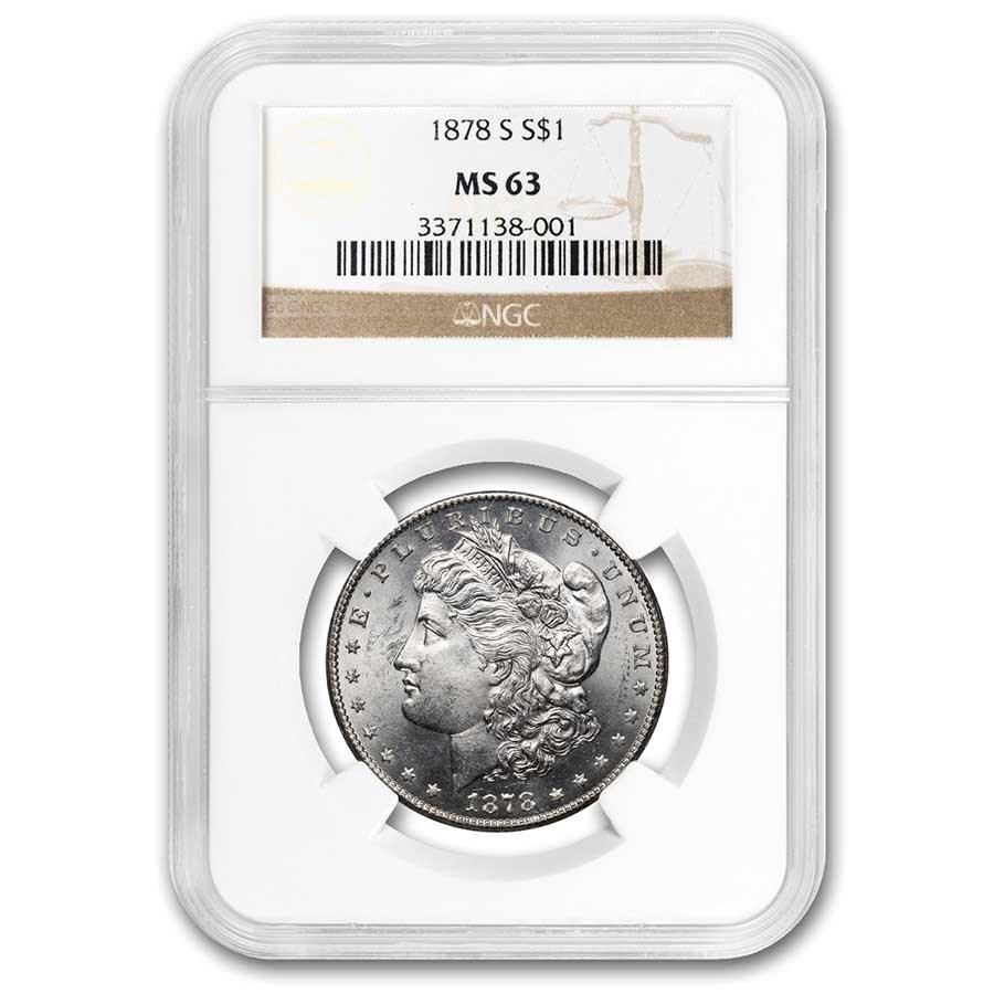 1878-S Morgan Dollar MS-63 NGC