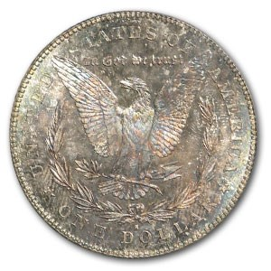 1878-S Morgan Dollar MS-63 PCGS (Kaleidoscope Toning)