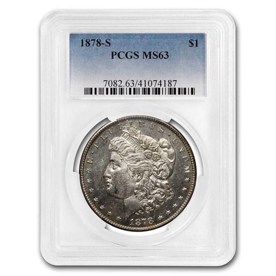 1878-S Morgan Dollar MS-63 PCGS