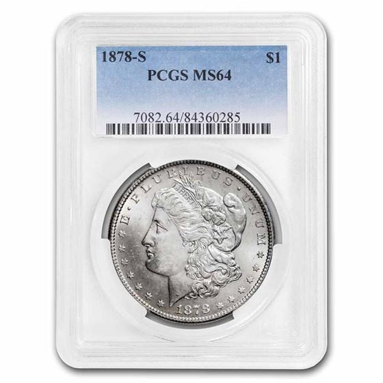 1878-S Morgan Dollar MS-64 PCGS