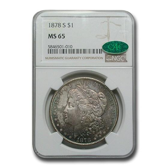 1878-S Morgan Dollar MS-65 NGC CAC