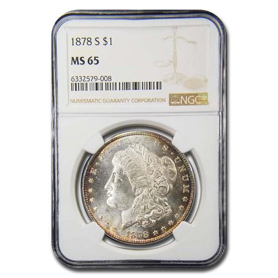 1878-S Morgan Dollar MS-65 NGC (Toned)