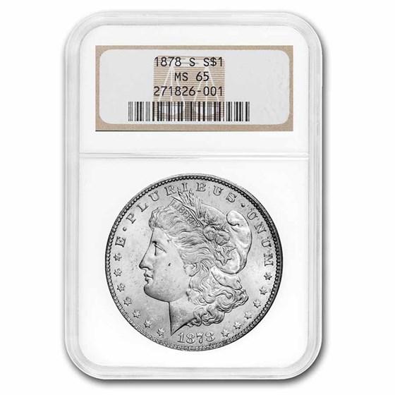 1878-S Morgan Dollar MS-65 NGC