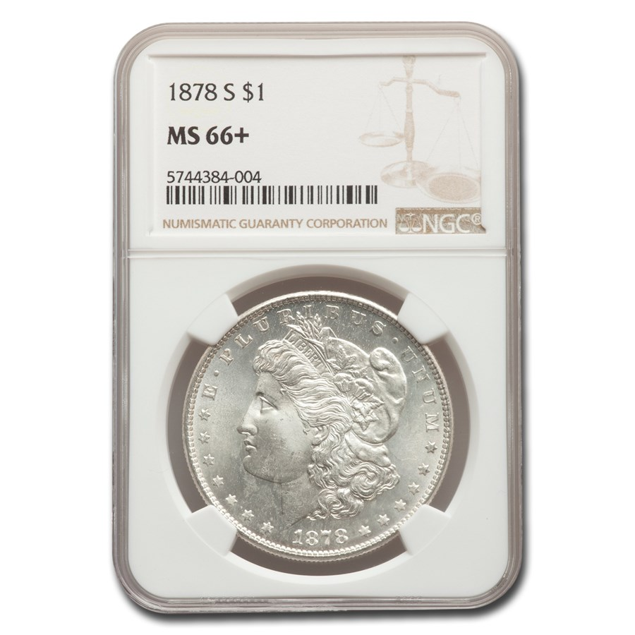1878-S Morgan Dollar MS-66+ NGC