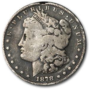 1878-S Morgan Dollar VG Rim Nick (VAM-27, Long Nock, Top-100)