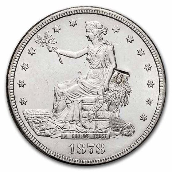 1878-S Trade Dollar BU (Chop Marked, DDR)