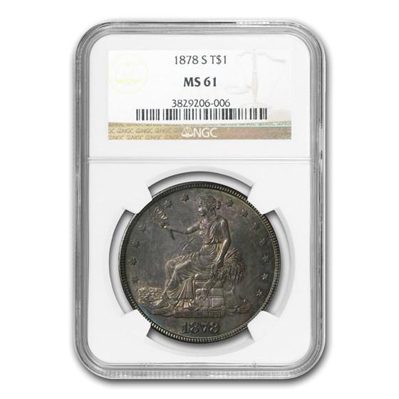 1878-S Trade Dollar MS-61 NGC