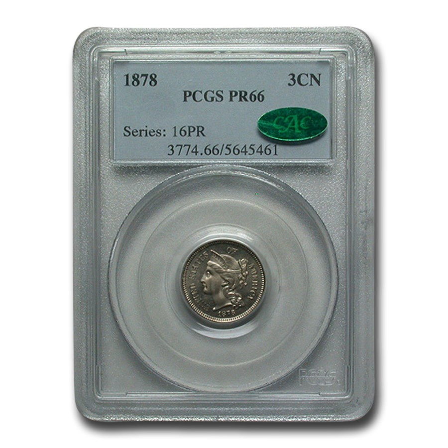 1878 Three Cent Nickel PR-66 PCGS CAC
