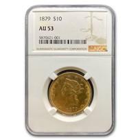 1879 $10 Liberty Gold Eagle AU-53 NGC
