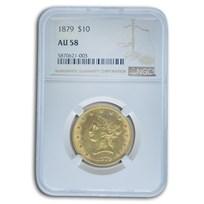 1879 $10 Liberty Gold Eagle AU-58 NGC