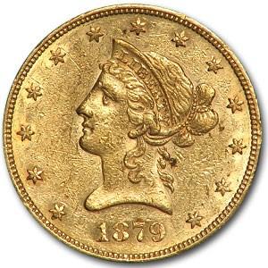 1879 $10 Liberty Gold Eagle AU