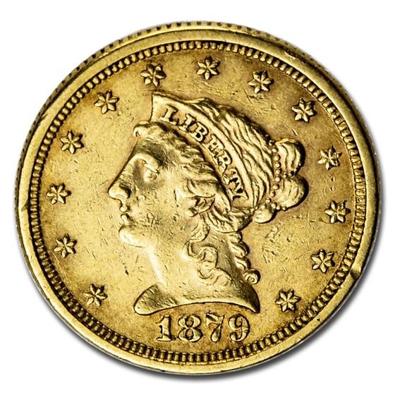 1879 $2.50 Liberty Gold Quarter Eagle AU