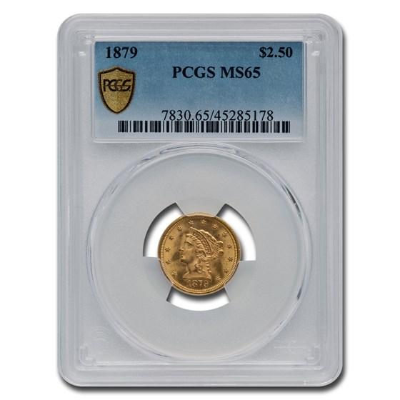 1879 $2.50 Liberty Gold Quarter Eagle MS-65 PCGS