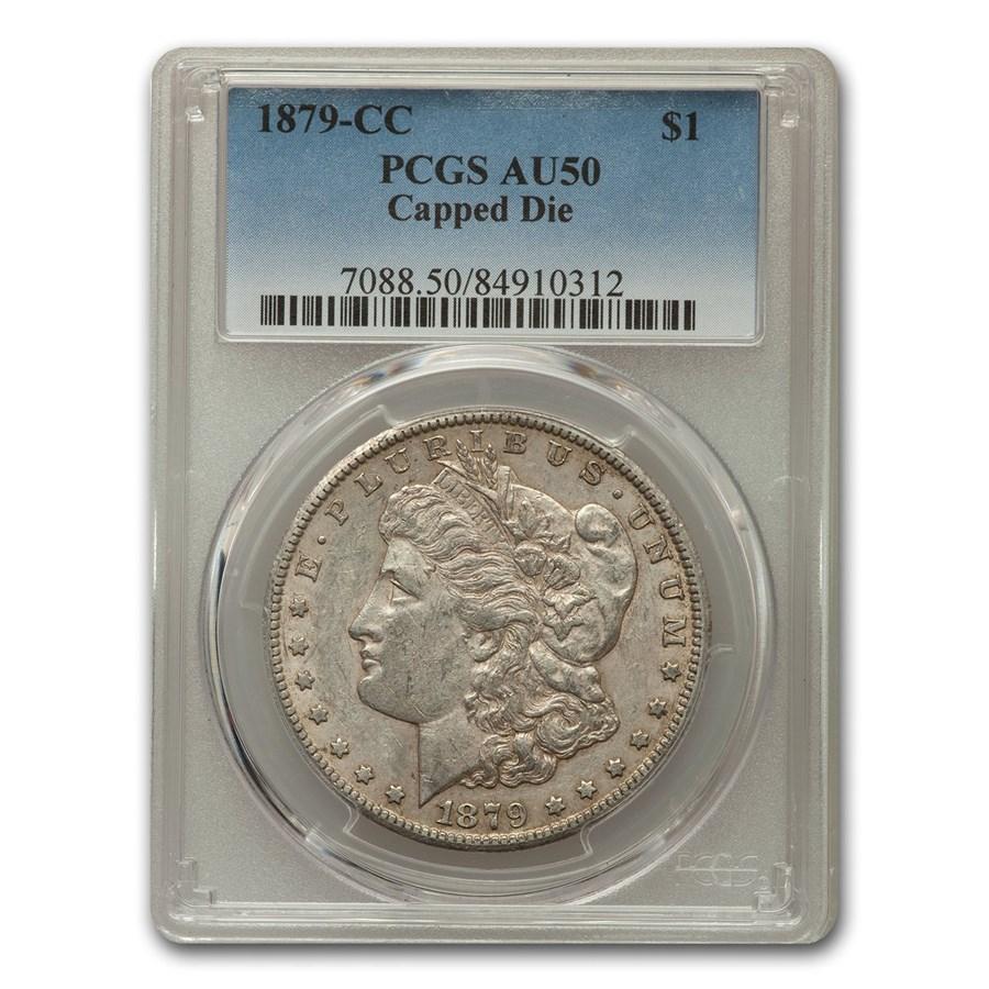 1879-CC Morgan Dollar AU-50 PCGS (Capped Die)