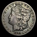 1879-CC Morgan Dollar Capped CC VF-35