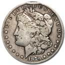1879-CC Morgan Dollar Capped CC VF Details (Rim Dings)