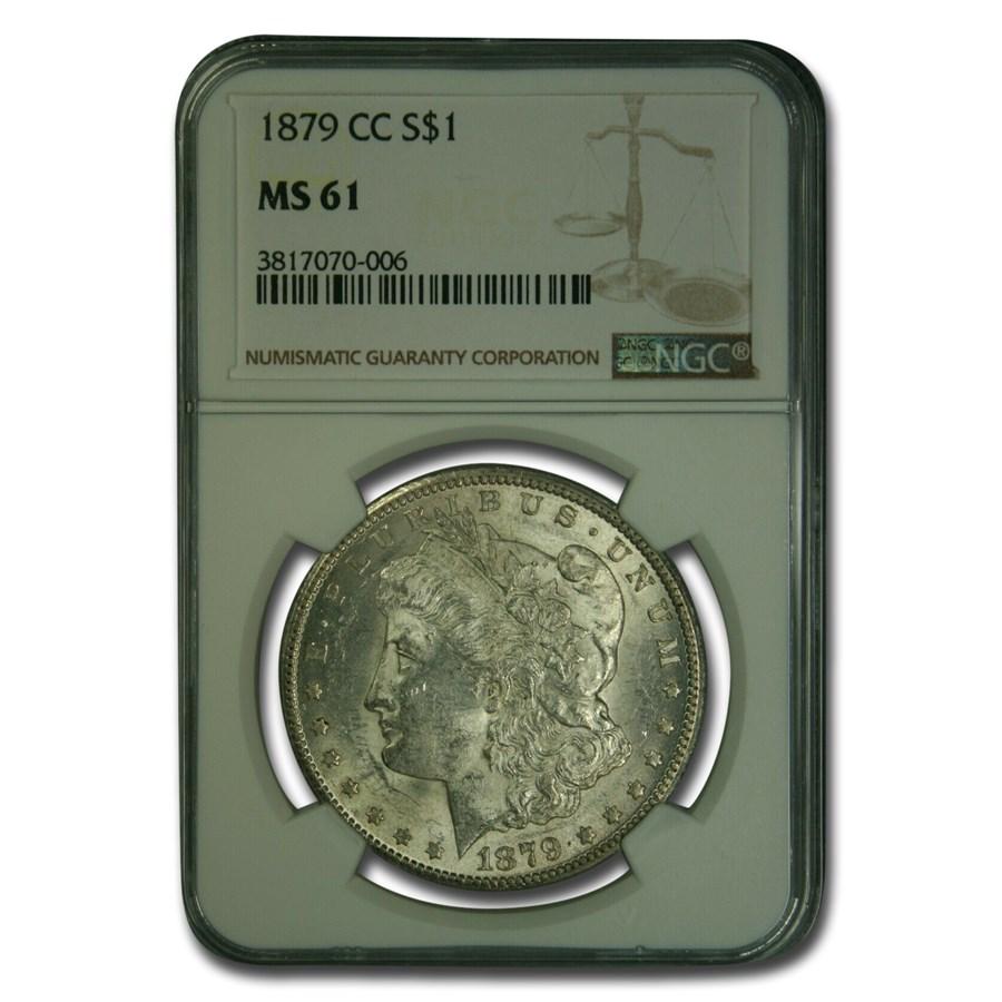 1879-CC Morgan Dollar MS-61 NGC